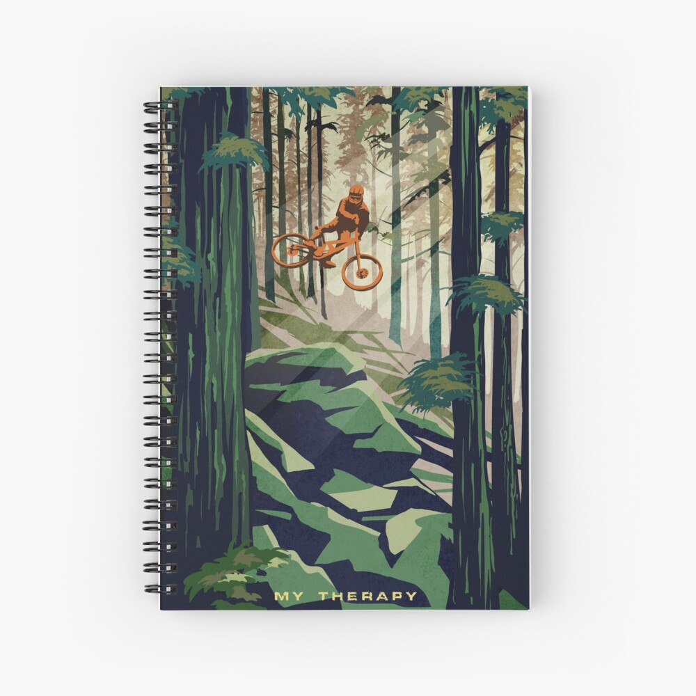 MY THERAPY: Mountain Bike! Spiral Notebook