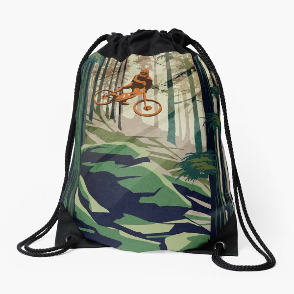 MY THERAPY: Mountain Bike! Drawstring Bag