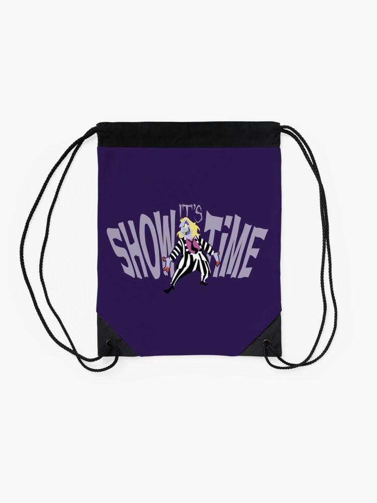 Alternate view of BeetleJuice: It's SHOWTIME! Drawstring Bag