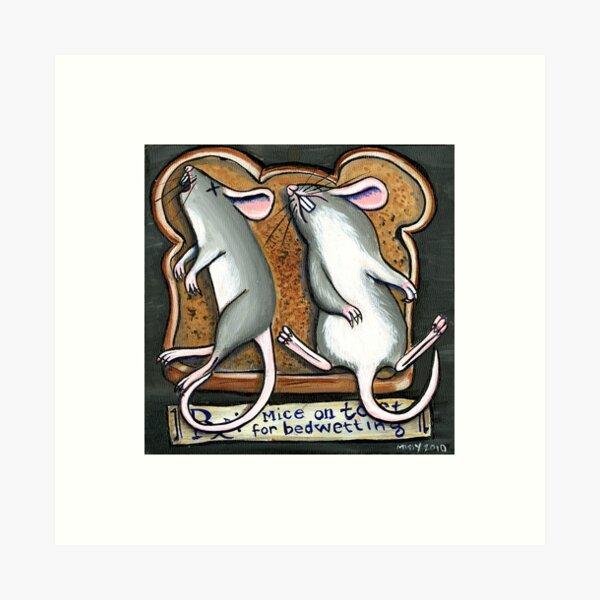 Mice on Toast Art Print