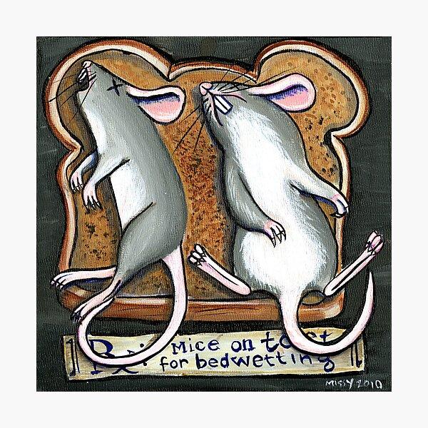 Mice on Toast Photographic Print