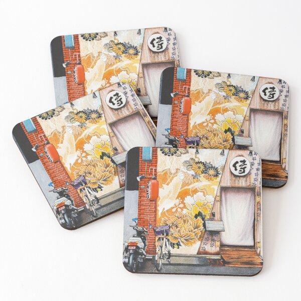 Samurai Dining Coasters (Set of 4)