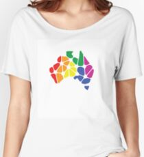 Equal Marriage Rights Australia (Rainbow Australia Logo) Women's Relaxed Fit T-Shirt