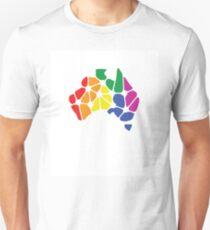 Equal Marriage Rights Australia (Rainbow Australia Logo) Unisex T-Shirt