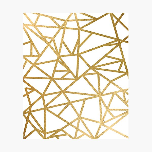 Gold foil geometric mosaic Photographic Print