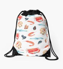 Seafood love Drawstring Bag