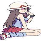 Anime Girl Female Pokemon Trainer  by Julie Oliver