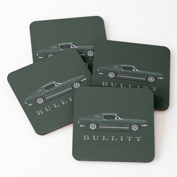 Mustang Bullitt Coasters (Set of 4)