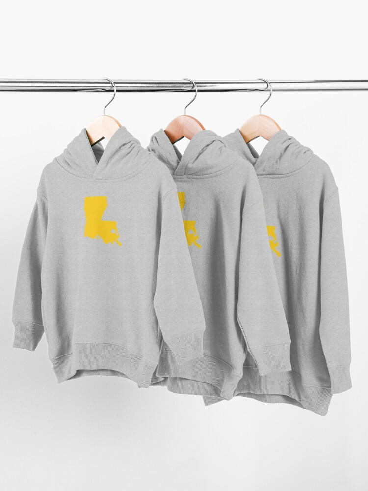 Alternate view of Louisiana Gold Toddler Pullover Hoodie
