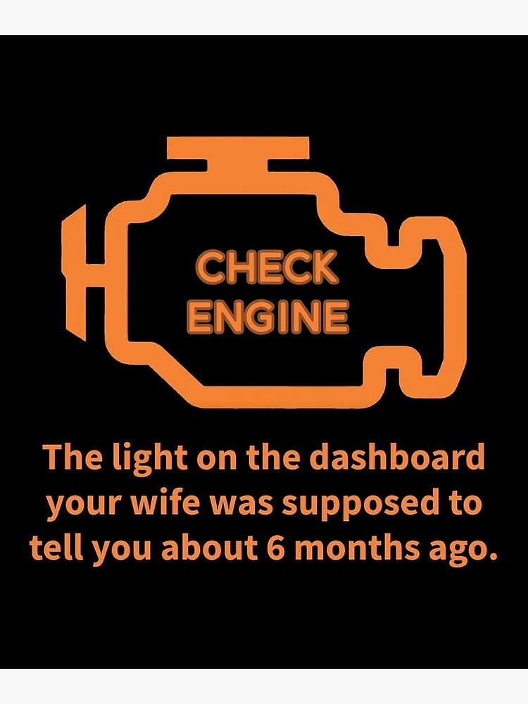 Repair Shop Car Check Engine Light Auto Mechanic Garage print   Greeting  Card