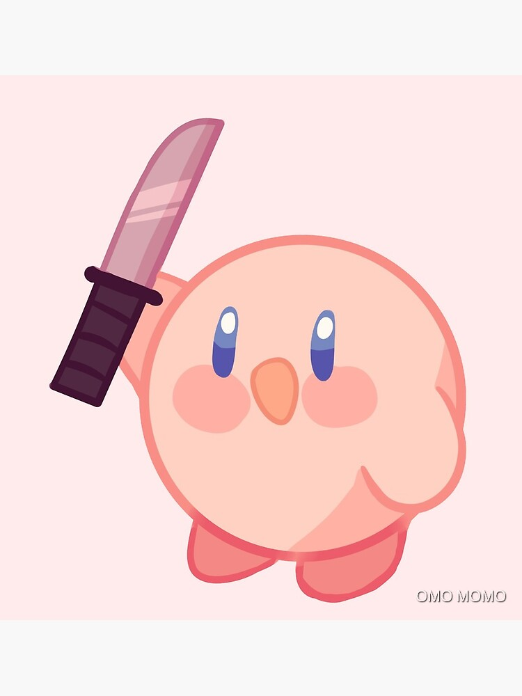 Kirby With A Knife Greeting Card By Onyatsu Redbubble Check out our kirby with knife selection for the very best in unique or custom, handmade pieces from our shops. redbubble