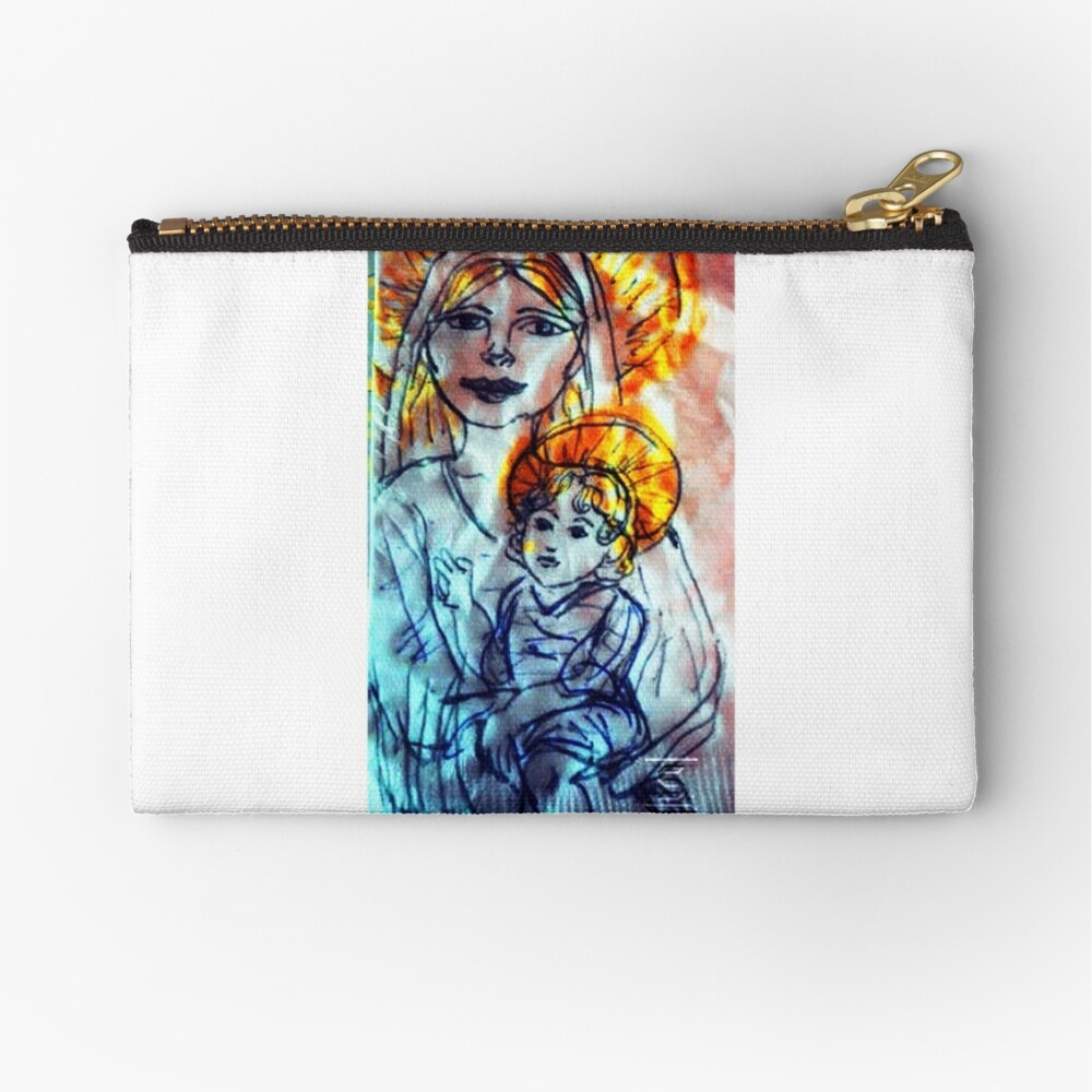 Madonna and Child Zipper Pouch