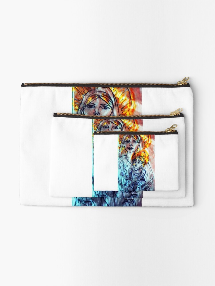 Alternate view of Madonna and Child Zipper Pouch