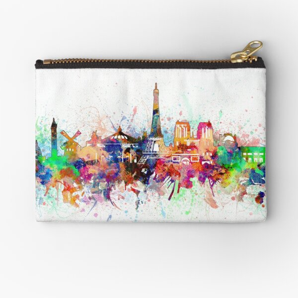paris skyline Zipper Pouch