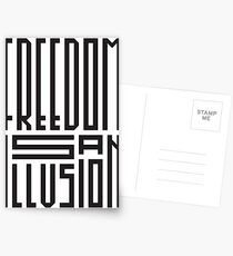 freedom is an illusion Postcards