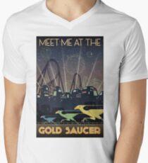 Final Fantasy VII Gold Saucer Travel Poster V-Neck T-Shirt