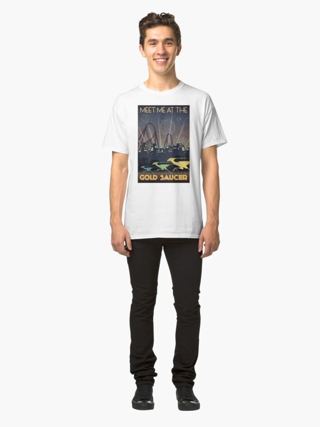 Alternative Ansicht von Final Fantasy VII Gold Untertasse Reiseplakat Classic T-Shirt