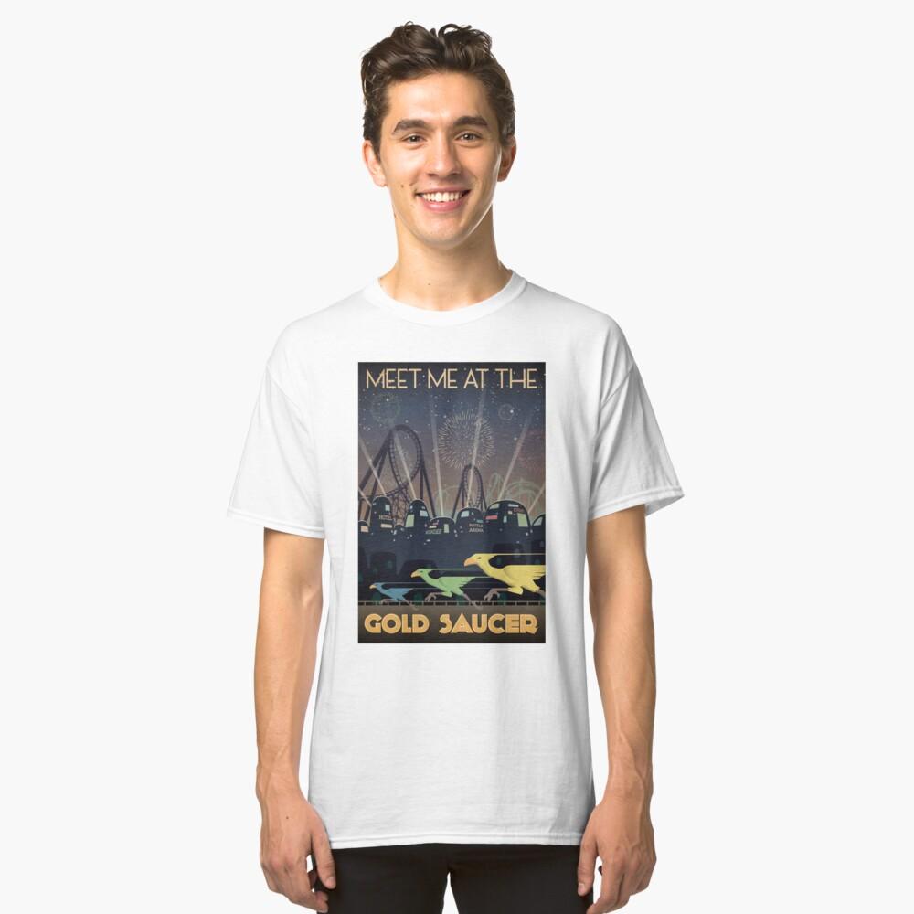 Final Fantasy VII Gold Untertasse Reiseplakat Classic T-Shirt