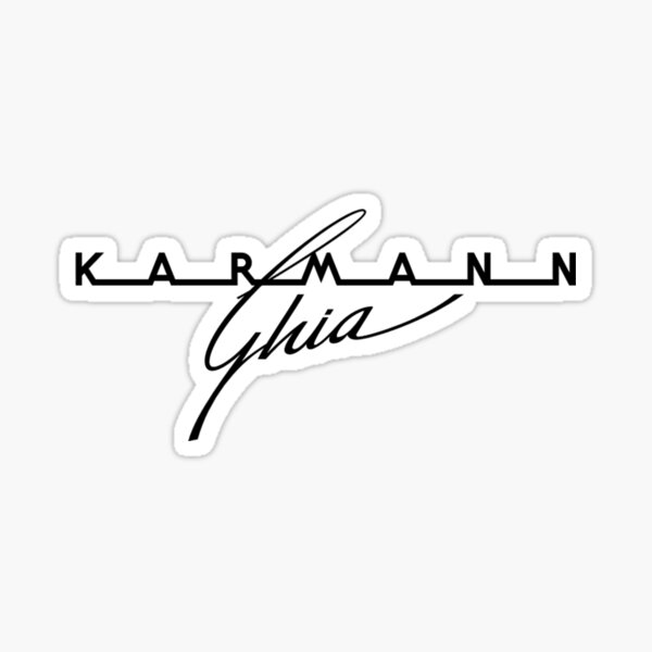 German Automobile Logo Vintage Fifties....the handmade sport coupe body built by Karmann, design by Ghia Sticker