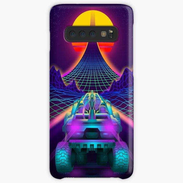 Outrun Retrowave Warthog Halo Ring Samsung Galaxy Snap Case