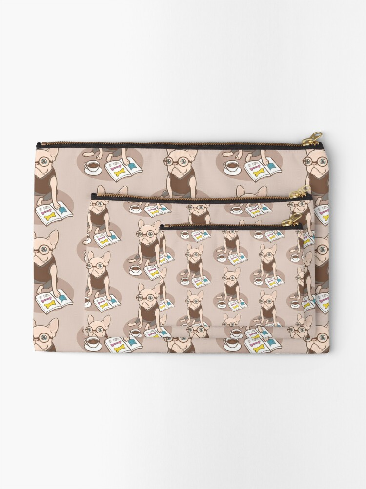 Alternate view of The Hipster Reader Zipper Pouch