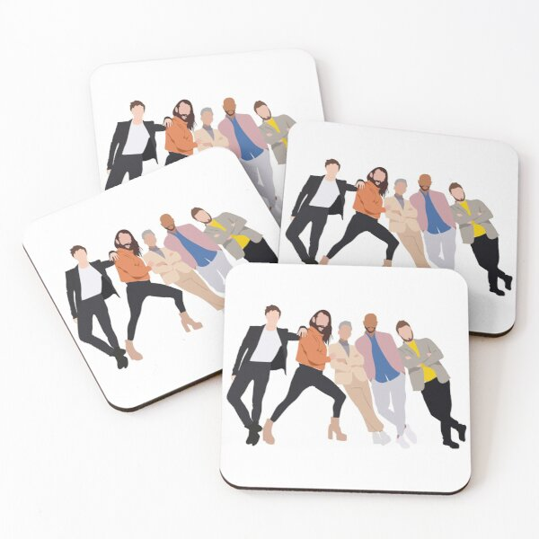 Fab 5 Coasters (Set of 4)