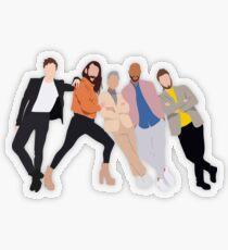 Fab 5 Transparent Sticker