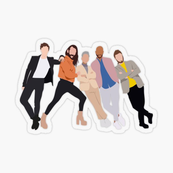 Fab 5 Transparent Sticker