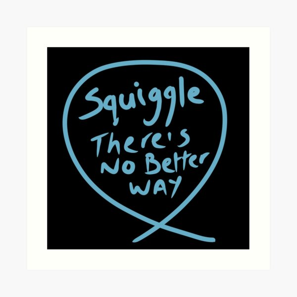 Copy of The squiggle collection - It's squiggle nonsense Art Print
