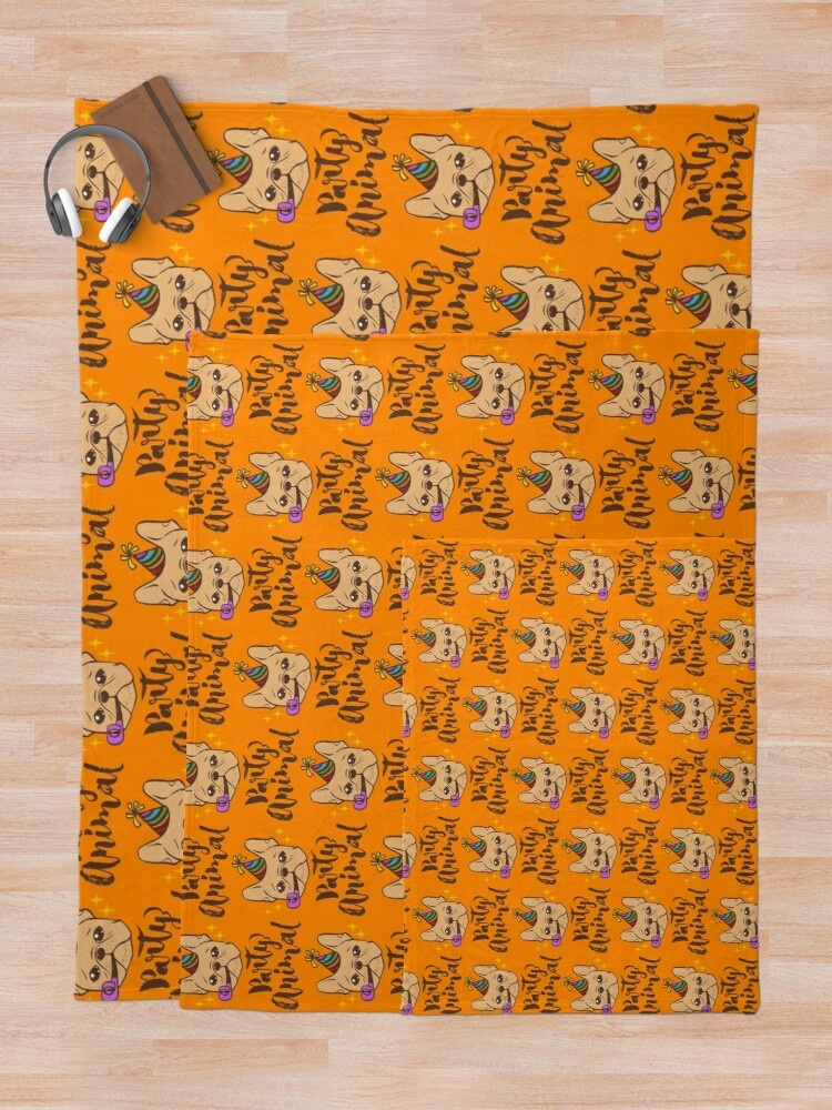 Alternate view of Party Animal Throw Blanket
