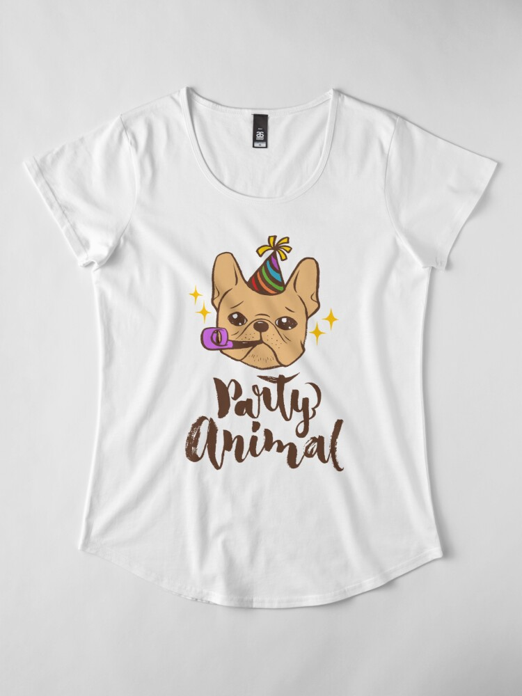 Alternate view of Party Animal Premium Scoop T-Shirt