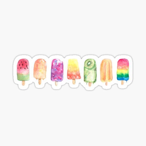 Watercolor Popsicles Sticker