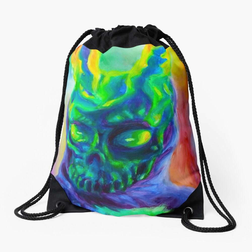 Burn His House Down Acrylic Painting Drawstring Bag