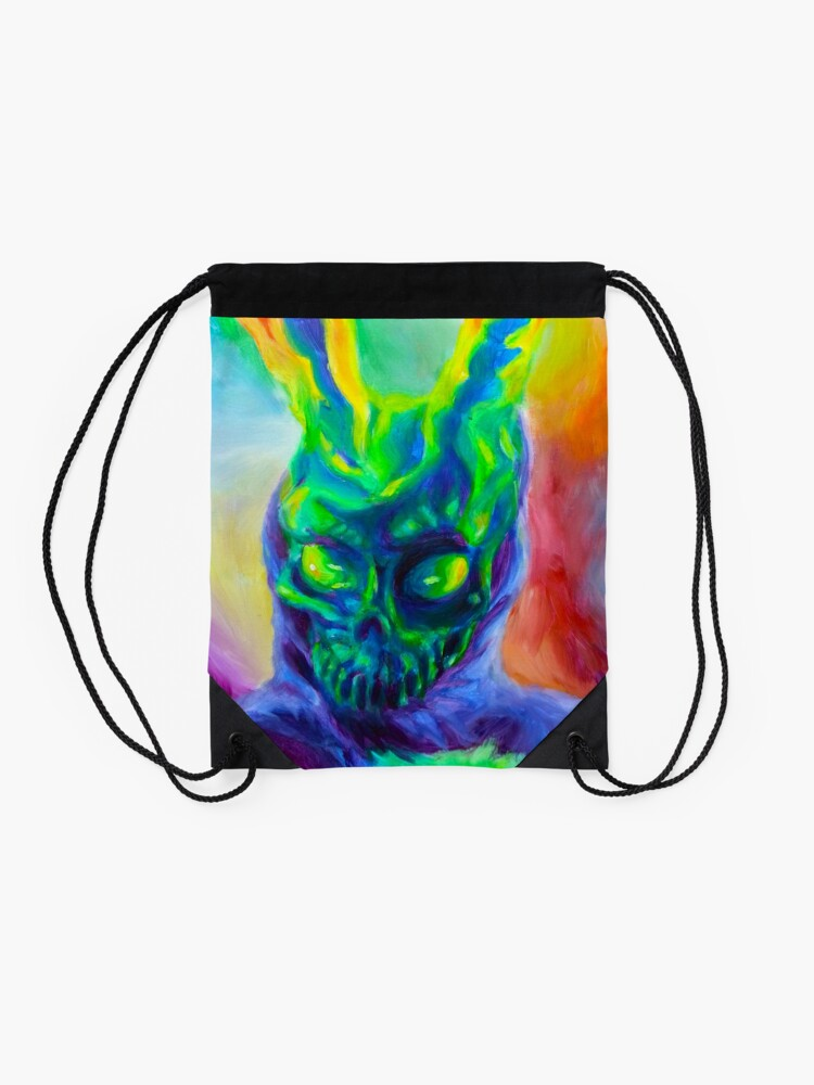 Alternate view of Burn His House Down Acrylic Painting Drawstring Bag