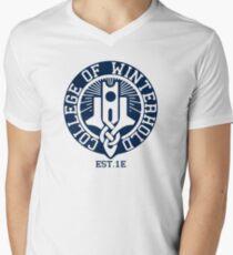 College of Winterhold Est. 1E Men's V-Neck T-Shirt