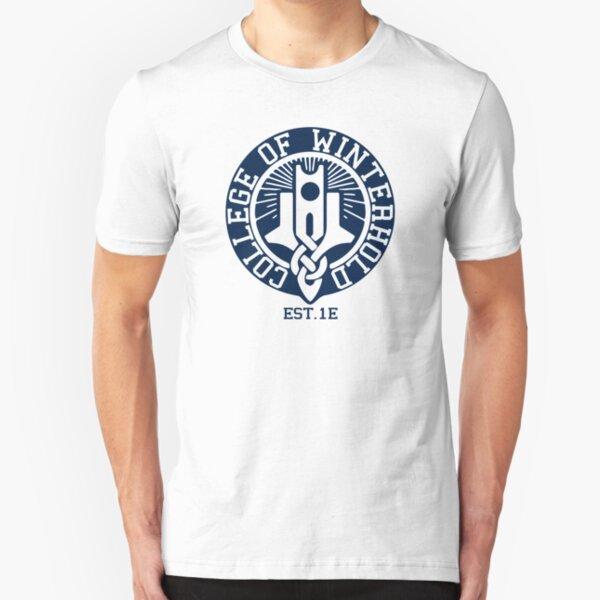 College of Winterhold Est. 1E Slim Fit T-Shirt