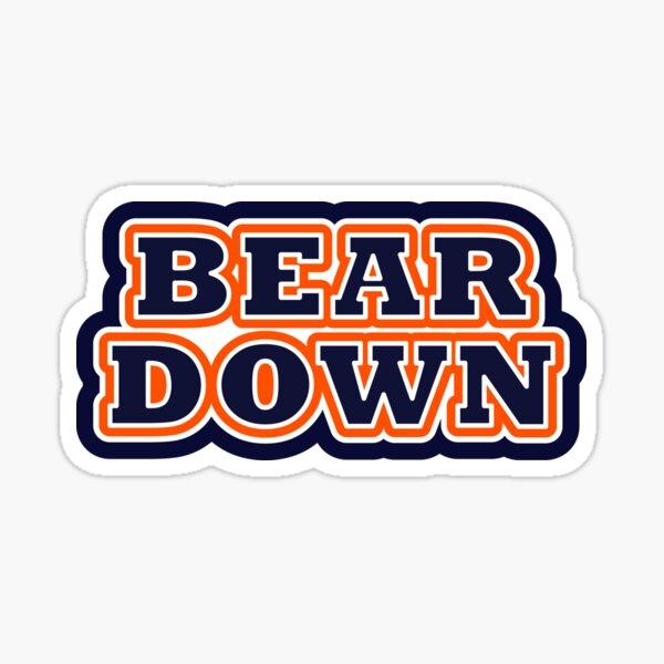 Bear Down - Uniform Colors Sticker