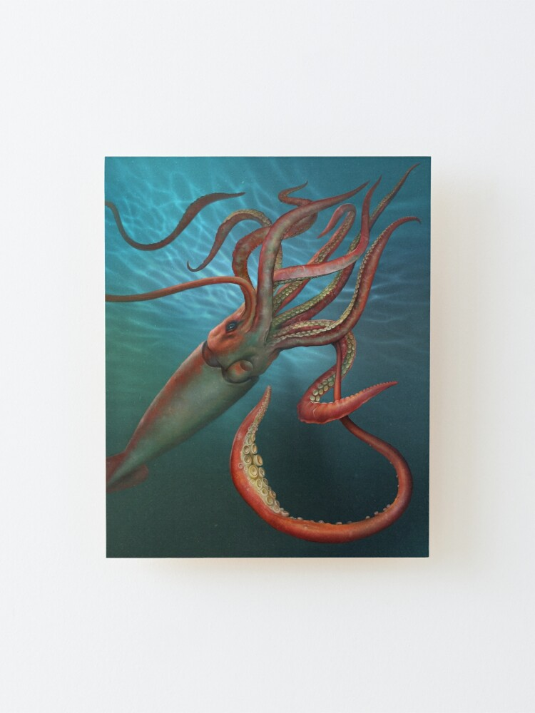Alternate view of Giant Squid Mounted Print
