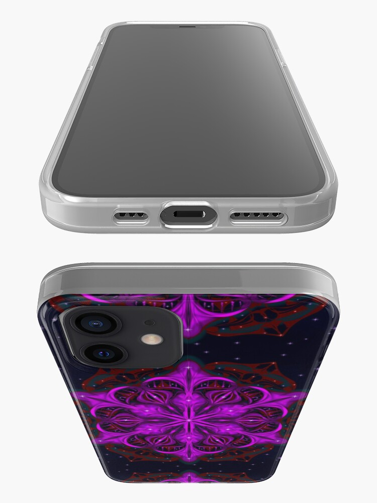 Alternate view of Spaceborne Orchid Snowflake iPhone Case & Cover