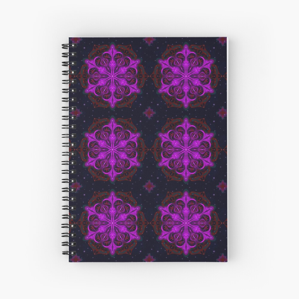 Spaceborne Orchid Snowflake Spiral Notebook
