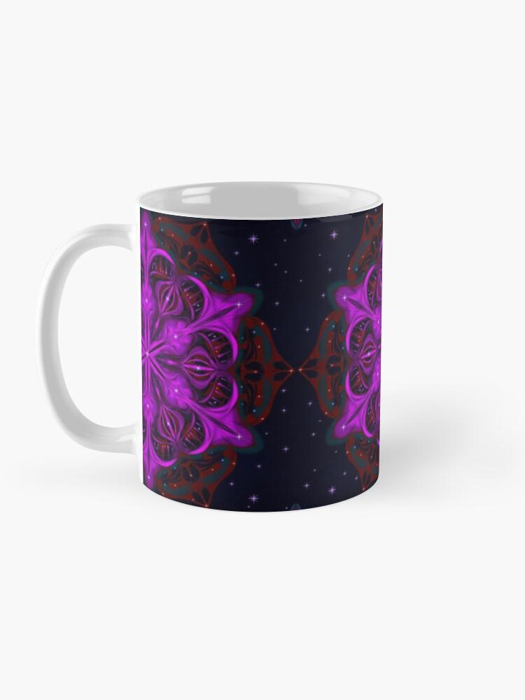 Alternate view of Spaceborne Orchid Snowflake Mug