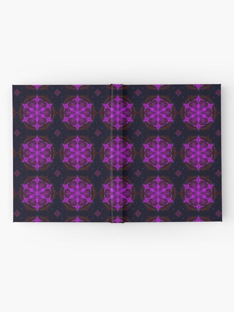 Alternate view of Spaceborne Orchid Snowflake Hardcover Journal