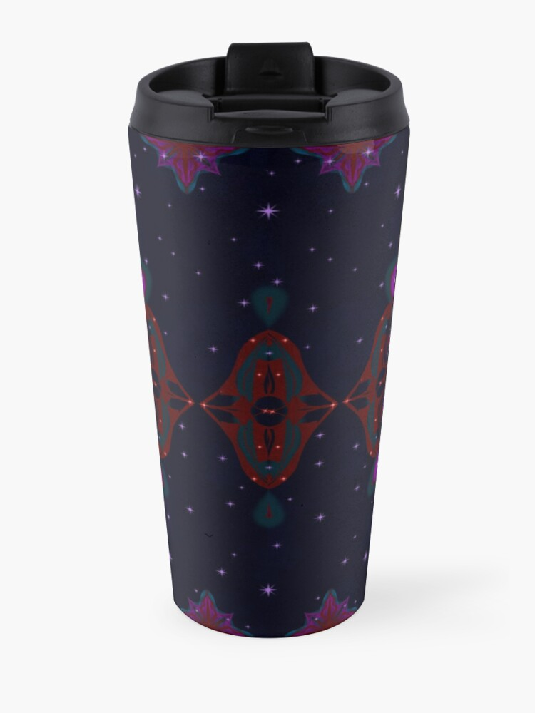 Alternate view of Spaceborne Orchid Snowflake Travel Mug