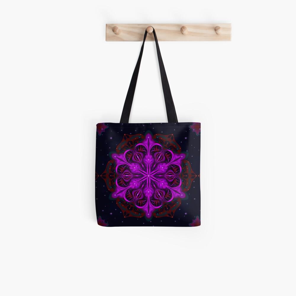 Spaceborne Orchid Snowflake Tote Bag