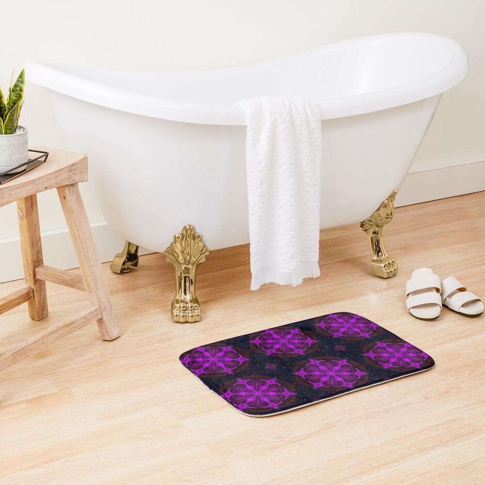 Spaceborne Orchid Snowflake Bath Mat