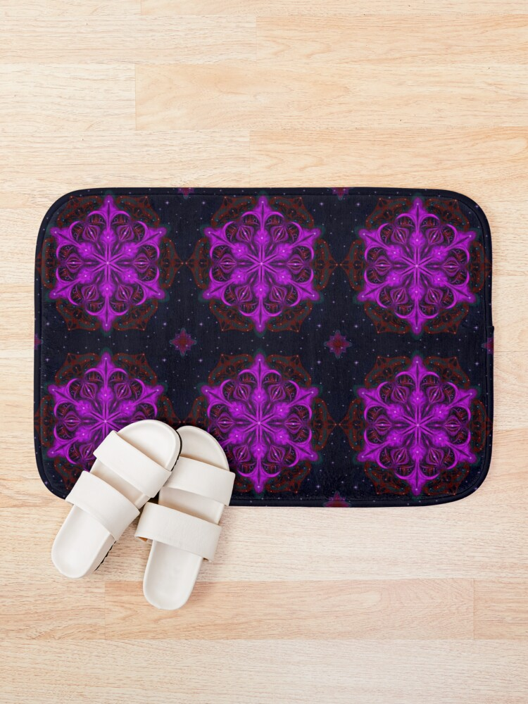 Alternate view of Spaceborne Orchid Snowflake Bath Mat