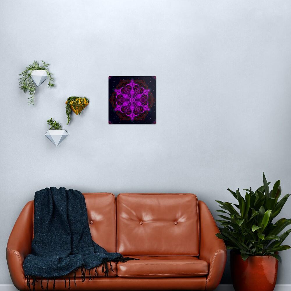 Spaceborne Orchid Snowflake Metal Print