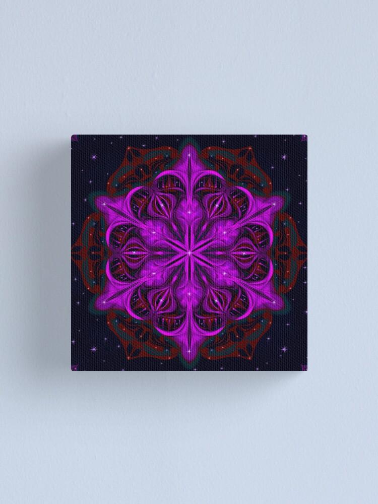 Alternate view of Spaceborne Orchid Snowflake Canvas Print