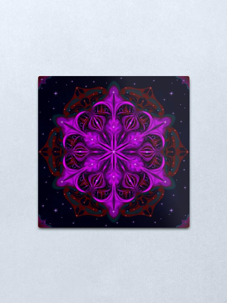 Alternate view of Spaceborne Orchid Snowflake Metal Print