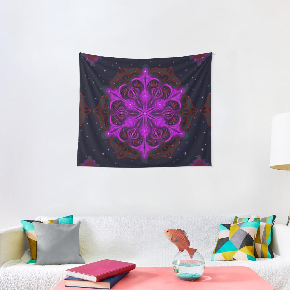 Spaceborne Orchid Snowflake Tapestry